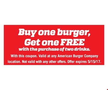 Buy one burger, get one free.