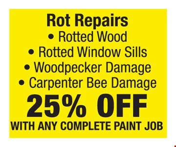 25% off Rot Repairs