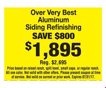 Aluminum Siding Refinishing Save $800