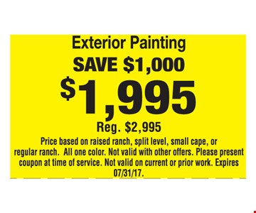 Exterior Painting Save $1,000
