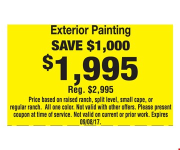 Exterior Painting $1,995