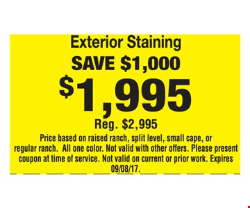 Exterior Staining $1,995