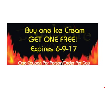 Buy one ice cream get one free
