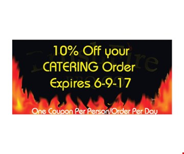 10% off your catering order