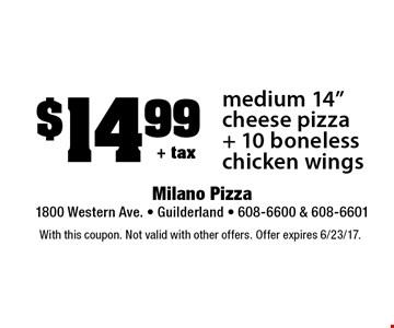 $14.99+ taxmedium 14