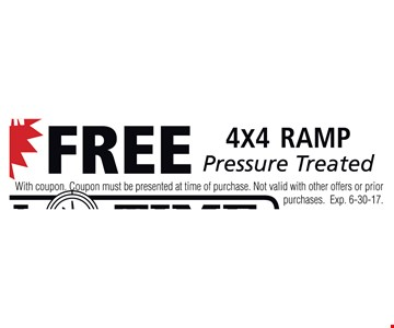 Free 4x4 Ramp Pressure Treated