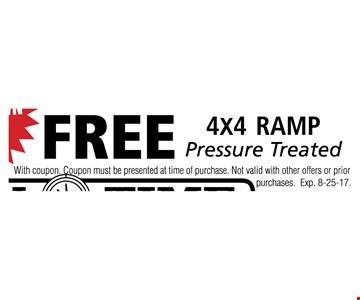 Free 4x4 ramp
