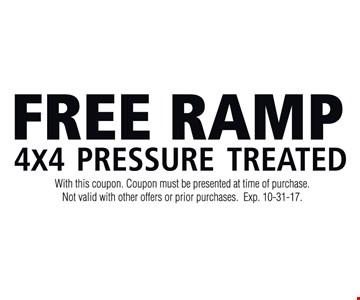 Free Ramp 4x4 Pressure Treated
