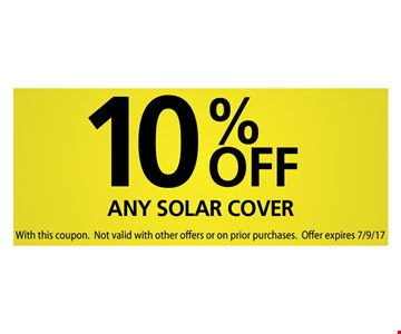 10% off any solar cover