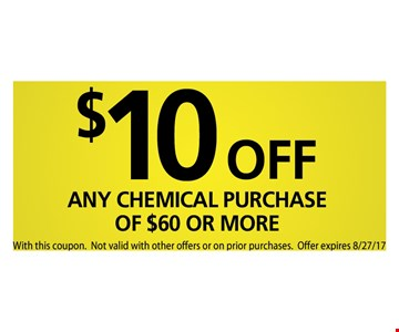 $10 off any chemical of $60 or more