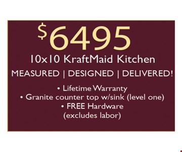 $6495 10x10 KraftMaid Kitchen
