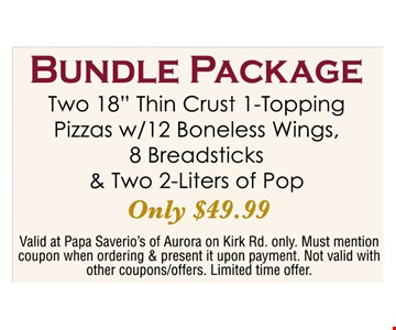 Bundle package Only $49.99