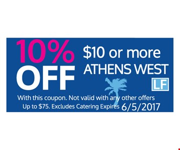 10% off $10 or more