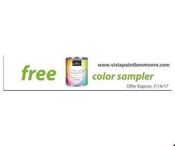 Free color sampler. Offer expires 7/14/17.