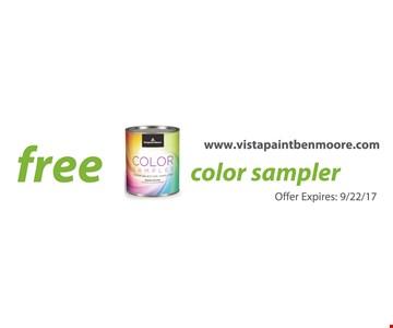 Free color sampler