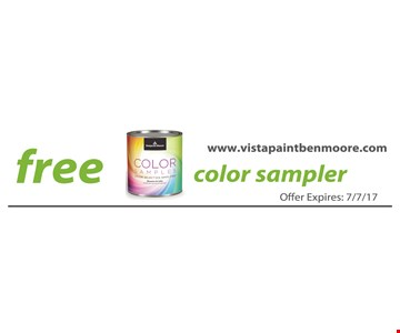 Free color sampler.