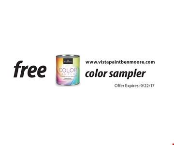 free color sampler. Offer Expires: 9/22/17