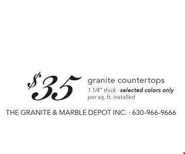 $35 granite countertops, 1 1/4