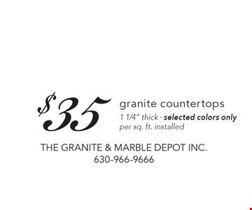 $35 granite countertops1 1/4