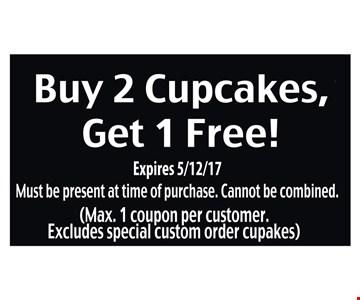 Buy 2 cupcakes, get 1 free
