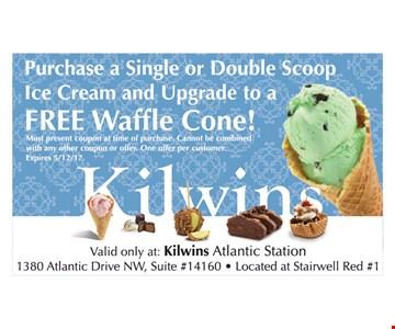 Free upgrade to waffle cone.