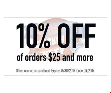 10% Off Orders $25 And More