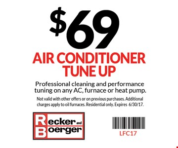 $69 air conditioner tune up