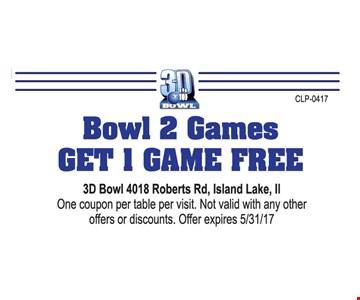 Bowl 2 games get 1 game free