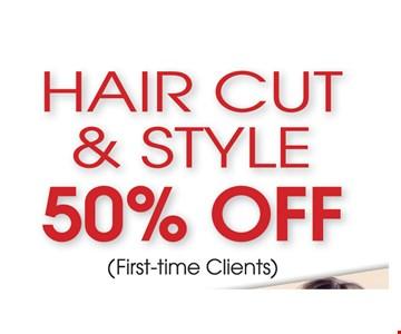 Hair Cut & Style 50% Off