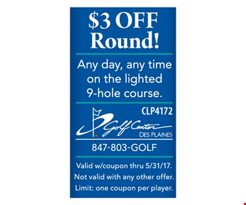 $3 off round