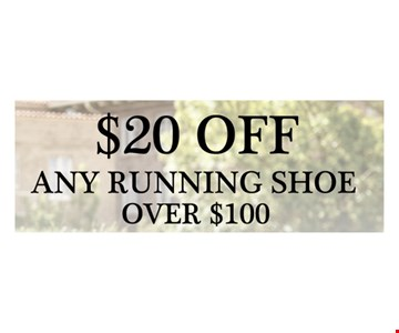 $20 off any running shoe over $100
