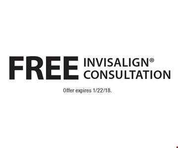 Free Invisalign Consultation. Offer expires 1/22/18.