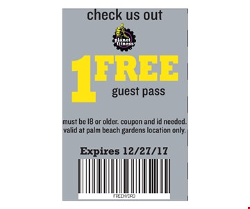 1 Free Guest Pass