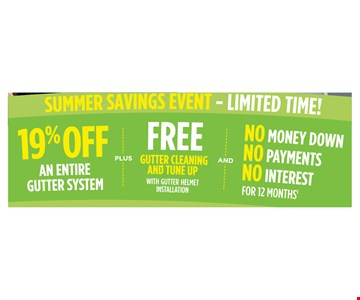 19% off an entire gutter system
