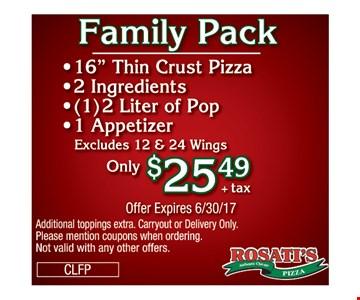 Family Pack $25.49