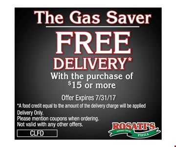 The Gas Saver. Free Delivery.