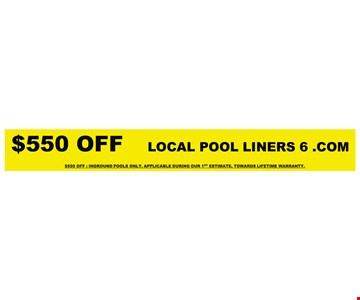 $500 Off Replacement Pool Liner