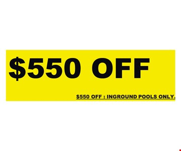 $550 Off Replacement Pool Liner