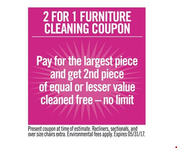 2 for 1 furniture cleaning coup