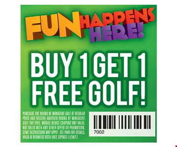 buy one get one free golf