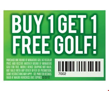 Buy 1 Get 1 Free Golf!