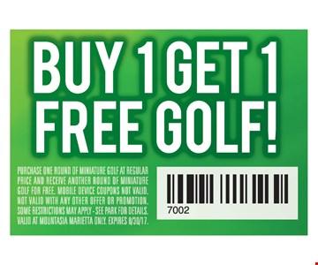 Buy 1 Get 1 Free Golf