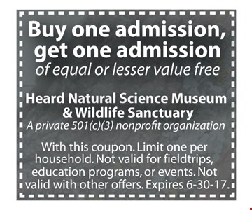 buy one admission, get one admission