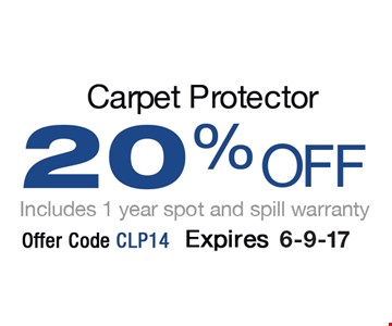 20% OFF Includes 1 year spot and sprill warranty. Offer code CLP14. Expires 6-9-17.