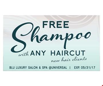Free Shampoo with any haircut