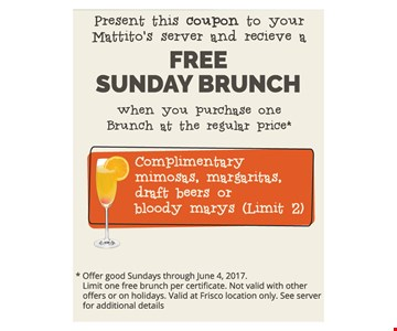 Free Sunday Brunch