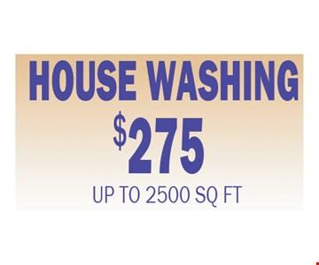 $275 house washing