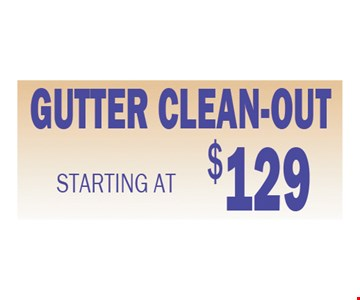 $129 gutter cleaning