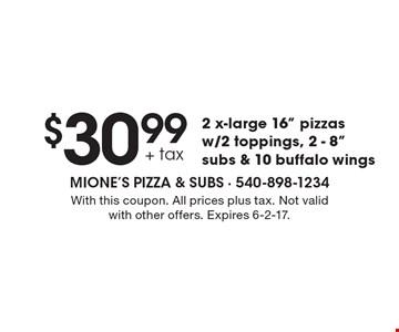 $30.99 + tax 2 x-large 16