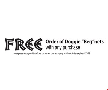 free Order of Doggie